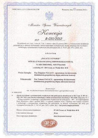 Concession No B-031/2012