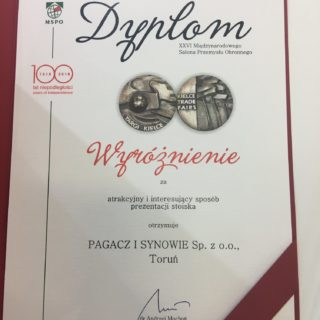 MSPO 2018, Kielce (diploma for distinction)