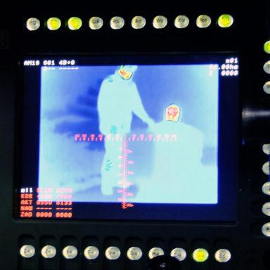 System ochronny Jaruga w trakcie testów z wykorzystaniem urządzeń termowizyjnych