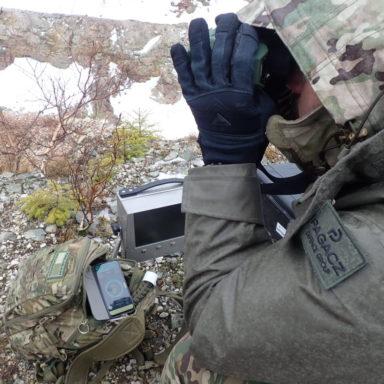 Monitor systemu Kongsberg TS